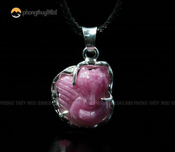 Mặt dây Hồ ly Sapphire hồng, cho tình duyên may mắn