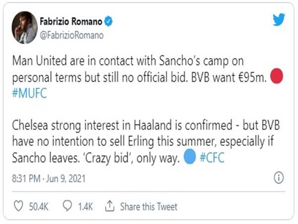 Bóng đá chiều 10/6: MU vẫn chưa gửi đề nghị mua Sancho